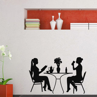 Girls Restaurant Drink Wall Art Sticker Decal