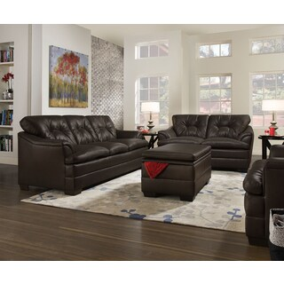 Simmons Upholstery Apollo Espresso Loveseat