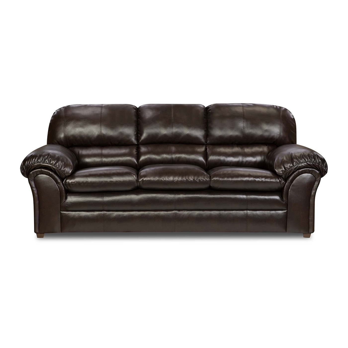 Simmons Upholstery Vintage Riverside Bonded Leather Sofa ...