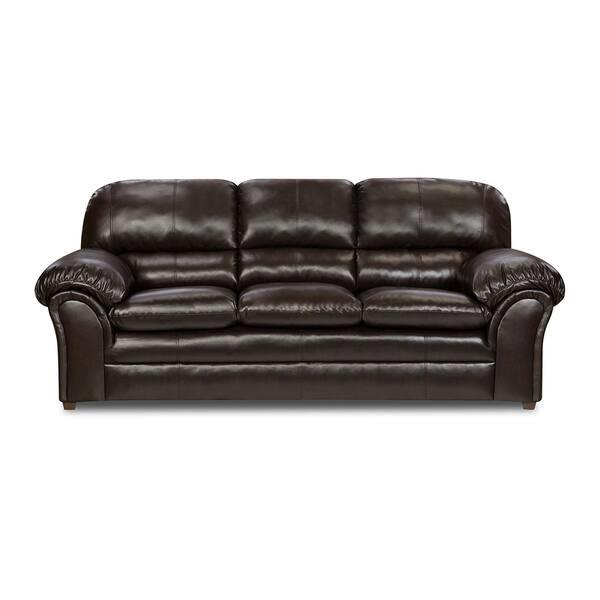 Vintage Riverside Bonded Leather Sofa