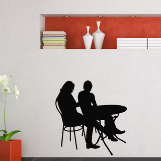Table in a Cafe Wall Art Sticker Decal