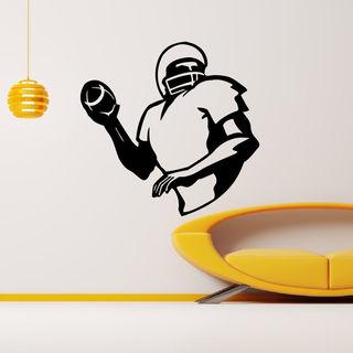 American Football Throw Ball Wall Art Sticker Decal