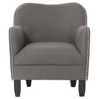 Robertson Upholstered Dark Grey Arm Chair
