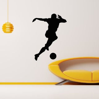 Football player with the Ball Tricks Wall Art Sticker Decal