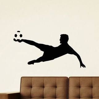 Soccer Player and Goal! Wall Art Sticker Decal