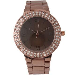 Olivia Pratt Glamour Rhinestone Bracelet Watch