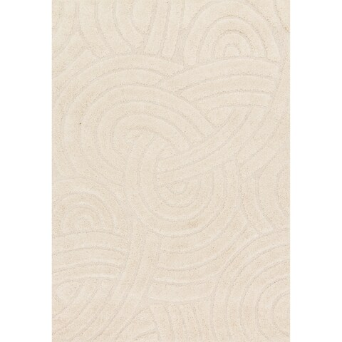 Carson Carrington Slagelse Ivory Shag Area Rug - 2'3 x 3'9