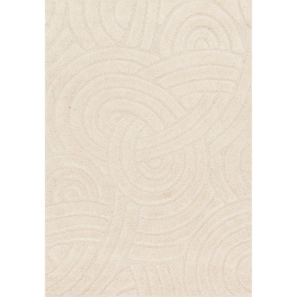 Carson Carrington Slagelse Ivory Shag Area Rug - 3'10 x 5'7