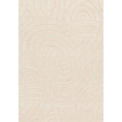 Carson Carrington Slagelse Ivory Shag Area Rug - 3'10 x 5'7