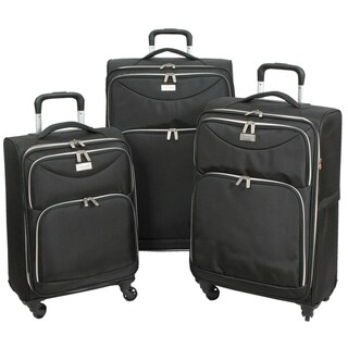 "Link to Geoffrey Beene 3-piece Midnight Collection Ulta Lightweight Spinner Luggage Set - 28"" Similar Items in Luggage Sets"
