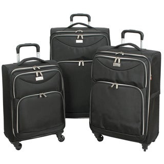 Geoffrey Beene 3-piece Midnight Collection Ulta Lightweight Spinner Luggage Set