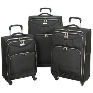Geoffrey Beene 3-piece Midnight Collection Ulta Lightweight Spinner Luggage Set
