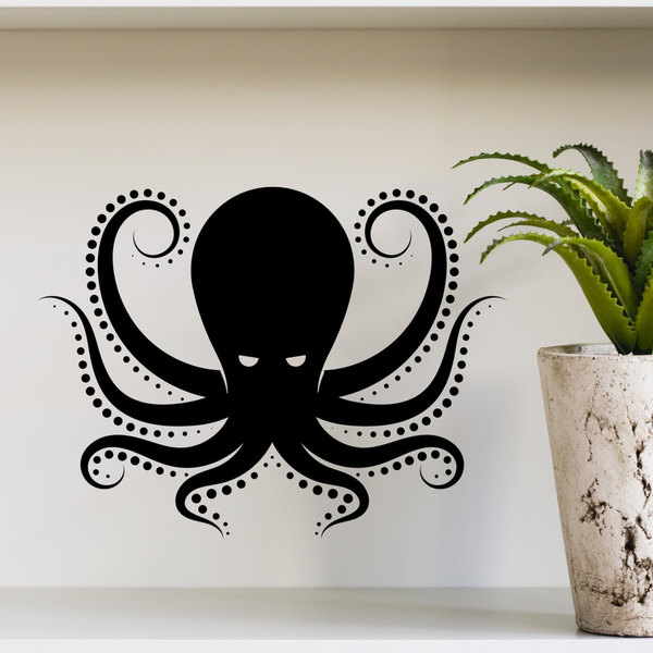 Wall Decal Octopus Kraken Tentacles Sea Animal Design Interior Wall Decals  Living Vinyl Stickers Hom