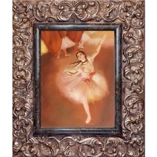 Edgar Degas 'Star Dancer' (On Stage) Hand Painted Framed Canvas Art