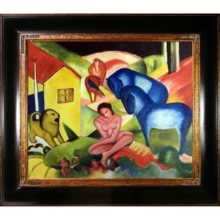 Franz Marc 'The Dream' Hand Painted Framed Canvas Art
