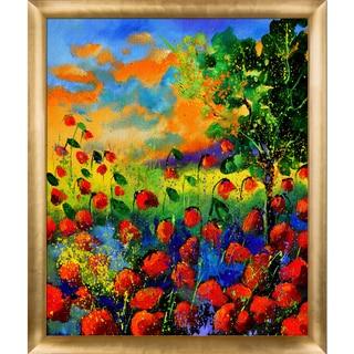 Pol Ledent 'Red Poppies 451150' Framed Fine Art Print