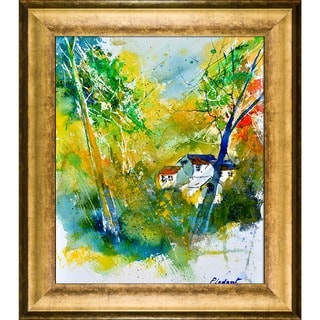 Pol Ledent 'Watercolor 115021' Framed Fine Art Print