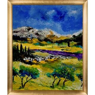 Pol Ledent 'Provence 452121' Framed Fine Art Print