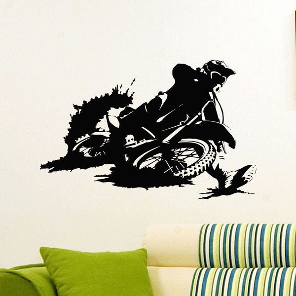 Motorcycle Bike Vinyl Wall Art Decal Sticker