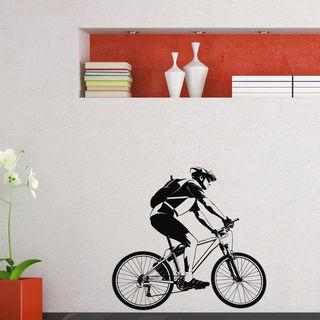 Racing Cyclist Vinyl Wall Art Decal Sticker