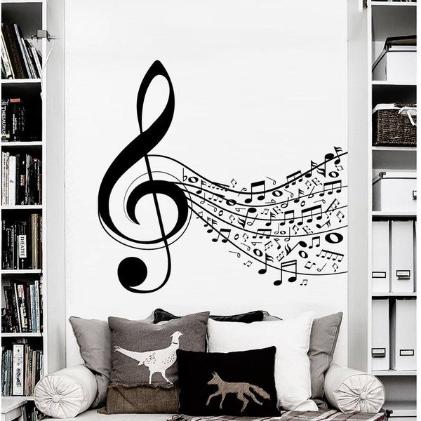 Shop Sheet Music Wall Art Decal Sticker Free Shipping On Orders Over 45