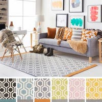 Hand-Tufted Path Wool Rug - 3' x 5'