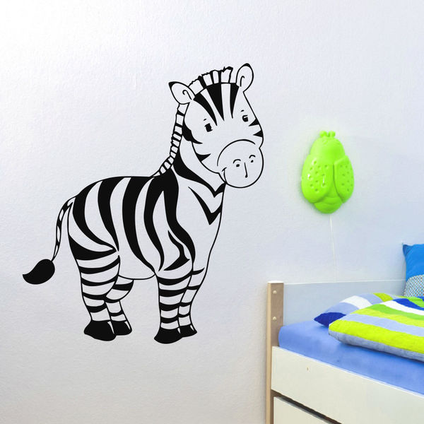shop animal baby zebra wall art sticker decal - free shipping on