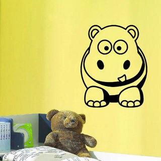 Little Hippo Cutie Wall Art Sticker Decal