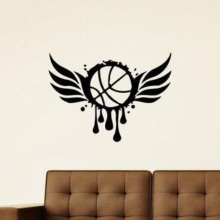 Sport Basketball Ball Wall Art Sticker Decal