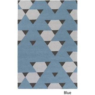Hand-Tufted Pine Wool Rug (5 x 76) (Ivory/Taupe - 5 x 76)