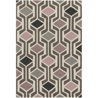 Hand-Tufted Pass Wool Rug (Option: Pink - N/A)