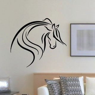 Animal Horse Silhouette Wall Art Sticker Decal