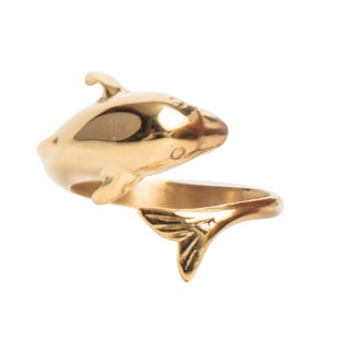 Magnetic Therapy Dolphin Ring (Option: Gold)
