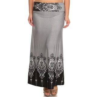 Moa Collection Women's Plus Size Black Maxi Skirt