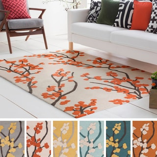 Hand-Tufted Ring Wool/Polyacrylic Cherry Blossom Rug (7'6 x 9'6)
