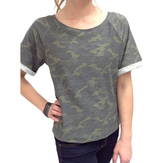 Relished Women's Lazy Saturday Camo Top
