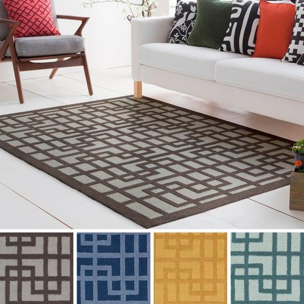 Hand-Tufted Reed Wool/Polyacrylic Rug (2' x 3')
