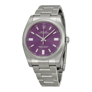 Rolex Men's m116000-0010 Oyster Perpetual Purple Watch