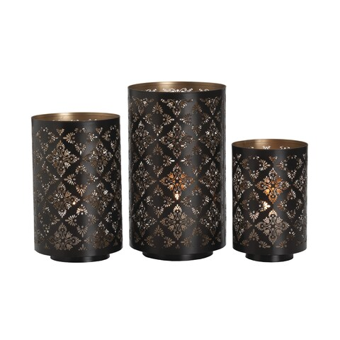 Studio Nova Square Metal Luminaries Set of 3