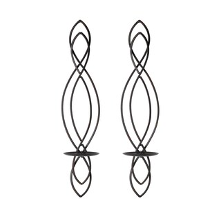 Elements Metal Loop Pillar Sconces (Set of 2)