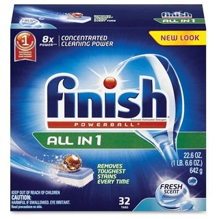 Finish All-in-1 Dishwashing Tabs - (32 PerBox)