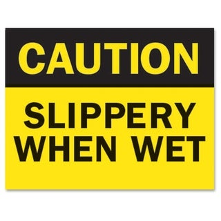 "Tarifold Safety Sign Inserts-""Caution ... Wet"" - (6 PerPack)"