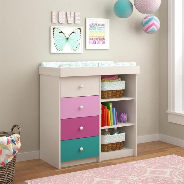 Ameriwood Home Kaleidoscope Whimsy Changing Table By Cosco