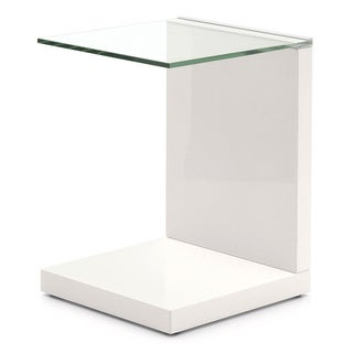 Tavolino End Table with Glass Top