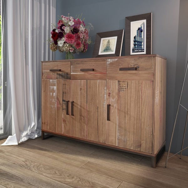 shop scandinavian lifestyle santo pinewood sideboard free shipping today. Black Bedroom Furniture Sets. Home Design Ideas