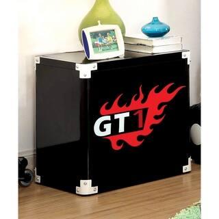 Furniture of America Jimmie Black Metal Racing 2-shelf Nightstand|https://ak1.ostkcdn.com/images/products/11188324/P18180165.jpg?impolicy=medium