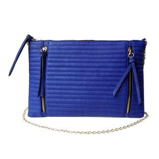 Olivia Miller 'Winnie' Dual Zip Trapunto Crossbody Clutch Handbag