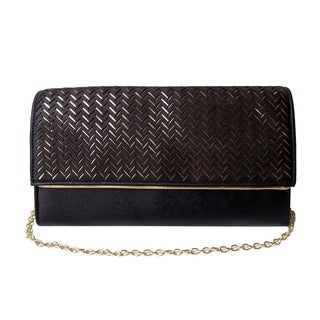 Olivia Miller 'Myra' Metallic Lasercut Crossbody Clutch Handbag