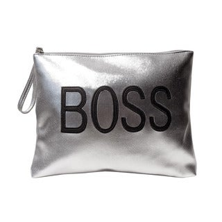 Olivia Miller 'Boss' Zipper Clutch Handbag