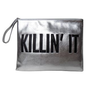 Olivia Miller 'Killin' it' Zipper Clutch Handbag|https://ak1.ostkcdn.com/images/products/11188353/P18180226.jpg?impolicy=medium
